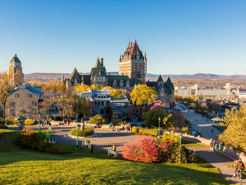Une photo de la ville de Québec.